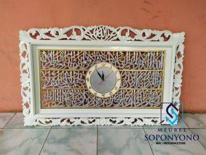Jam Hiasan Dinding Ukiran Kaligrafi Jepara